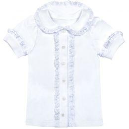 Блузка для девочки Белая №12