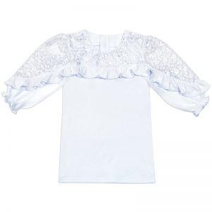 Блузка для девочки Белая №6