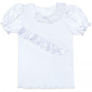 Блузка для девочки Белая №7