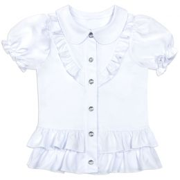 Блузка для девочки Белая №9