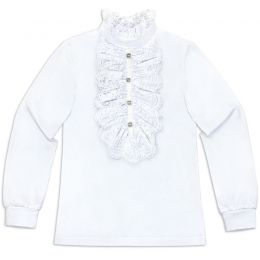 Блузка для девочки белая №36