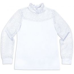 Блузка для девочки белая №37