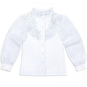 Блузка для девочки белая №38