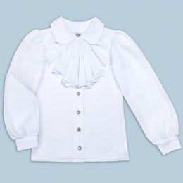 Блузка для девочки белая в школу