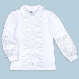 Блузка для девочки белая в школу №1