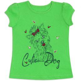 Футболка для девочки Cutedog зелёный