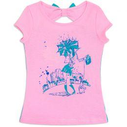 Футболка для девочки Розовый аквамарин
