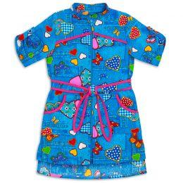 Халат-рубашка для девочки Бязь №1