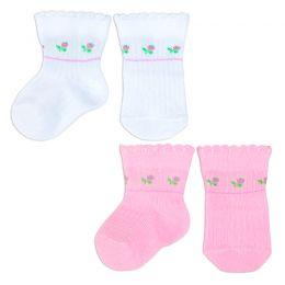 Комплект носков для новорожденного Цветочки