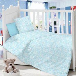 Комплект постельного белья в детскую кроватку Сатин Ажур