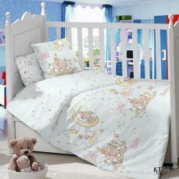 Комплект постельного белья в детскую кроватку Сатин Баю-бай