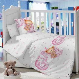 Комплект постельного белья в детскую кроватку Сатин Девочка