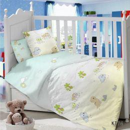 Комплект постельного белья в детскую кроватку Сатин Дино