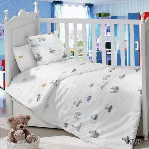 Комплект постельного белья в детскую кроватку Сатин Форсаж
