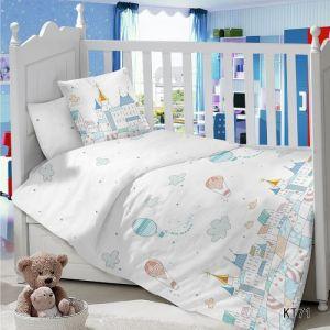 Комплект постельного белья в детскую кроватку Сатин Город
