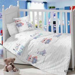 Комплект постельного белья в детскую кроватку Сатин Hero