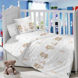 Комплект постельного белья в детскую кроватку Сатин Игрушки