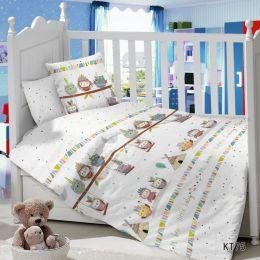 Комплект постельного белья в детскую кроватку Сатин Инди