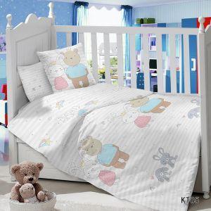 Комплект постельного белья в детскую кроватку Сатин Королевство