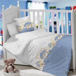 Комплект постельного белья в детскую кроватку Сатин Мишутки