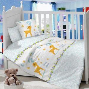 Комплект постельного белья в детскую кроватку Сатин Олененок