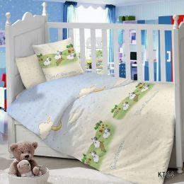 Комплект постельного белья в детскую кроватку Сатин Овечки