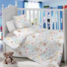 Комплект постельного белья в детскую кроватку Сатин Пэчворк