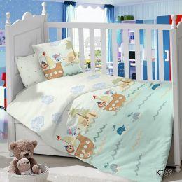 Комплект постельного белья в детскую кроватку Сатин Пираты