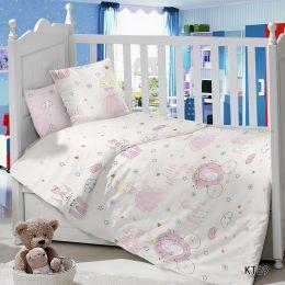 Комплект постельного белья в детскую кроватку Сатин Принцесса