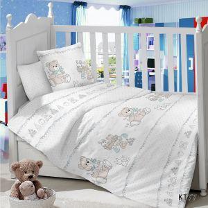 Комплект постельного белья в детскую кроватку Сатин Прогулка