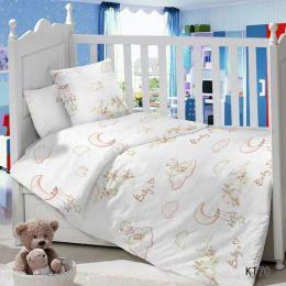 Комплект постельного белья в детскую кроватку Сатин Птички
