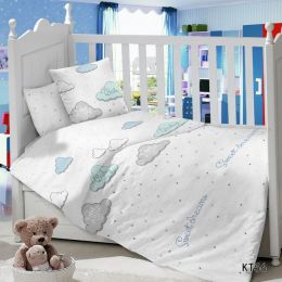 Комплект постельного белья в детскую кроватку Сатин Сладкий сон