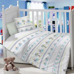 Комплект постельного белья в детскую кроватку Сатин Слоник