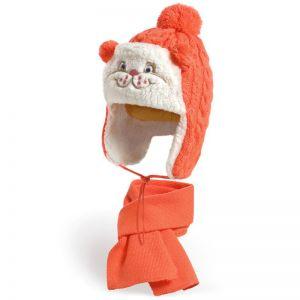 Комплект шапка и шарф для девочки №2