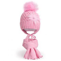 Комплект шапка и шарф для девочки №3