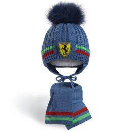 Комплект шапка и шарф для мальчика №1