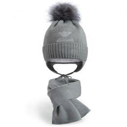 Комплект шапка и шарф для мальчика №2