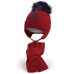 Комплект шапка и шарф для мальчика №6