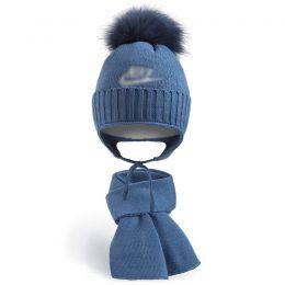 Комплект шапка и шарф для мальчика №7