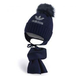 Комплект шапка и шарф для мальчика №8