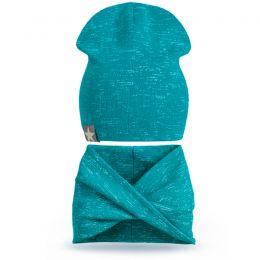 Комплект шапка и шарф хомут №1