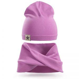 Комплект шапка и шарф хомут для девочки №1