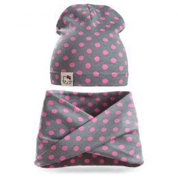 Комплект шапка и шарф хомут для девочки №2