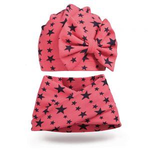 Комплект шапка и шарф хомут для девочки №3