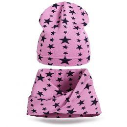 Комплект шапка и шарф хомут для девочки №4