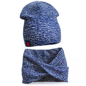 Комплект шапка и шарф хомут для мальчика №4