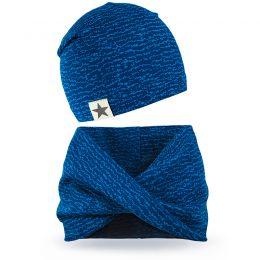 Комплект шапка и шарф хомут для мальчика №5