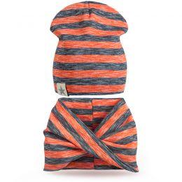 Комплект шапка и шарф хомут для мальчика №7