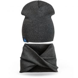 Комплект шапка и шарф хомут для мальчика №8