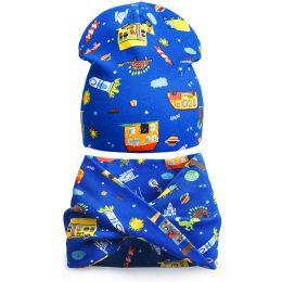 Комплект шапка и шарф хомут для мальчика Sity